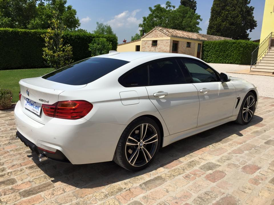 oscuramento vetri BMW serie 4 Gran Coupé